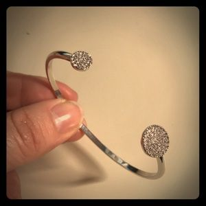 Jewelry - Stella & Dot Pave Disc Cuff & Earrings